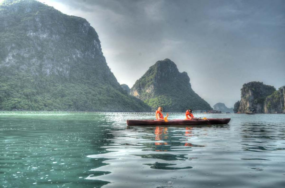 Halong Bay Cruise, Caving, and Kayaking